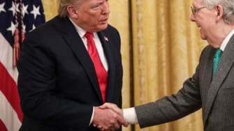 Former President Donald Trump and Senate Minority Leader Mitch McConnell.