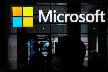 A Microsoft sign.