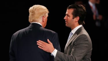Donald Trump Jr. with his father