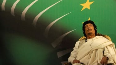 Longtime Libyan leader Muammar al-Qaddafi is next on the chopping block as Libya becomes the latest in a series of Middle Eastern uprisings.