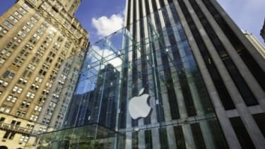 """Apple store on Fifth Avenue in New York City: """"The New York Times"""" reports that Apple avoided paying an estimated $2.4 billion in federal taxes last year."""