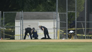 The FBI investigates the scene of the congressional baseball practice shooting.