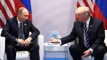 President Donald Trump and Russia's President Vladimir Putin.
