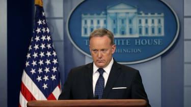 Sean Spicer during a press briefing