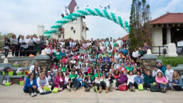 Mothers from Rye and Sandy Hook, Conn., pose for a group shot.