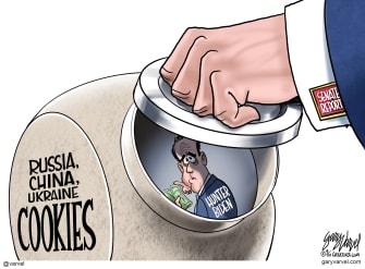 Political Cartoon U.S. Hunter Biden senate report