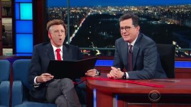 Jon Stewart visits The Late Show
