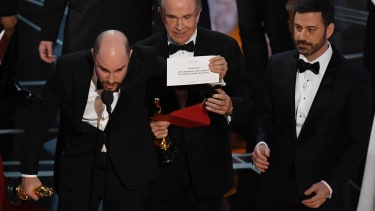 Moonlight wins the Best Picture award at the Oscars