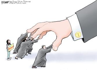 Political Cartoon U.S. Trump supreme court DACA dreamers