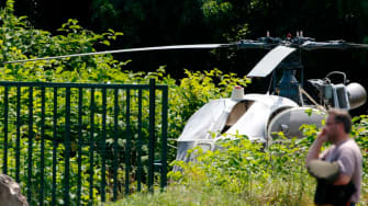 The helicopter used to break Redoine Faid free from prison.