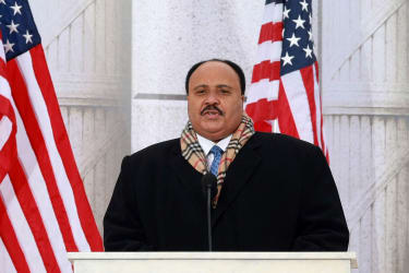 Martin Luther King III speaks in Washington