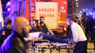 A car bombing in Ankara, Turkey injures and kills many.