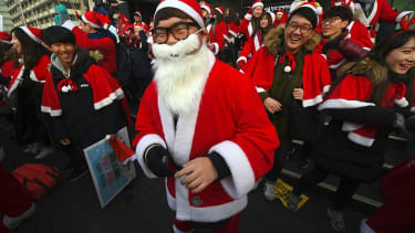 Santa protest in Seoul