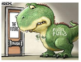 Editorial Cartoon U.S. fossil fuels green energy