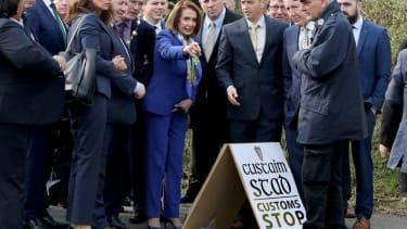 Nancy Pelosi visits the Irish border in April 2019