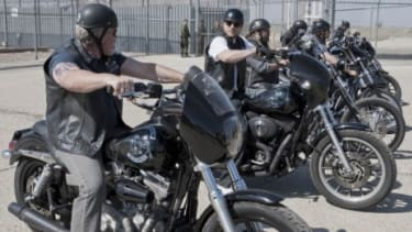 """In Tuesday's season premiere of """"Sons of Anarchy,"""" the gang returns to its fictional California town after a detour to Northern Ireland last season."""