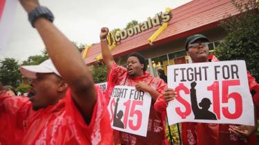Fast food strike, September 2014