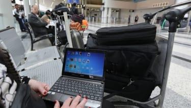 Laptop usage on airplanes.