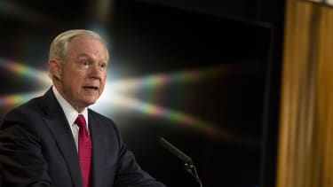 Jeff Sessions speaks at the Department of Justice