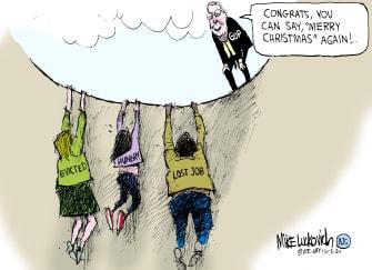 Political Cartoon U.S. COVID relief McConnell congress