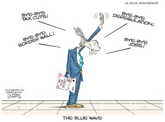 Political Cartoon U.S. democrats jobs
