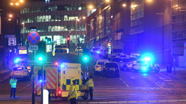 Emergency vehicles in Manchester, England
