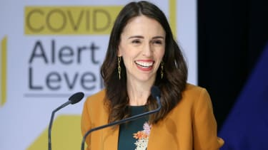Prime Minister Jacinda Ardern speaks to media during a post cabinet press conference at Parliament on June 08, 2020 in Wellington, New Zealand.