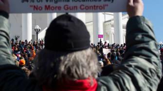 A pro-gun protester