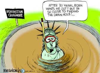 Editorial Cartoon U.S. afghanistan quagmire withdrawal