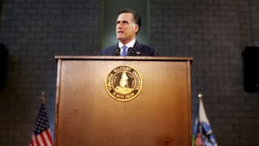 During a foreign policy speech on Oct. 8, Mitt Romney called President Obama's strategy weak.