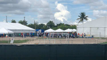 The largest migrant children detention center in the US in Homestead, Florida.