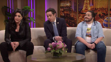 Cecily Strong, Pete Davidson, and Aidy Bryant.