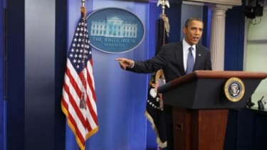 President Obama speaks to the media after House Speaker John Boehner (R-Ohio) said he will end debt negotiations with the Obama Administration.