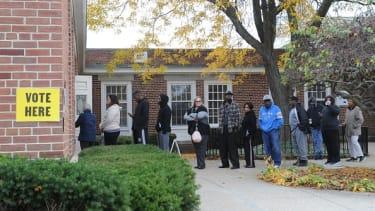 Voters in Flint, Michigan.
