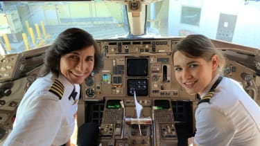 Capt. Wendy Rexon and her daughter, First Officer Kelly Rexon.