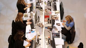 People working in office.