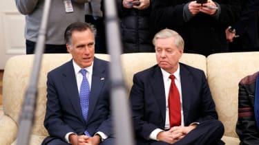 Mitt Romney and Lindsey Graham