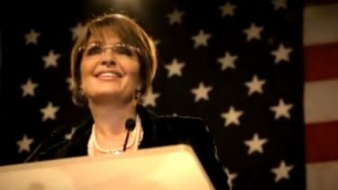 Sarah Palin's new ad positions her front and center of the Tea Party buzz.