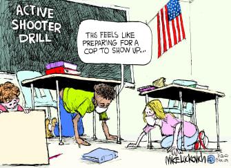 Editorial Cartoon U.S. police active shooter