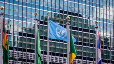 UN building.