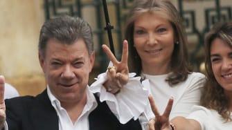 Colombian President Juan Manuel Santos, winner of 2016 Nobel Peace Prize