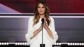 The New York Post dug up photos of Melania Trump's nude photo shoot with another woman from her younger years.