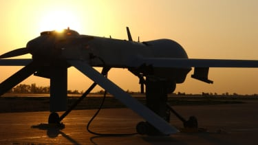 U.S. drones hunt for insurgents as Iraqi leaders discuss a new government