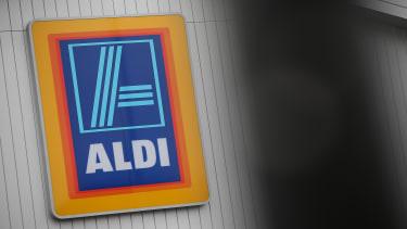 The Aldi logo at a store