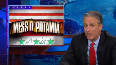 Jon Stewart despondently dusts off his 'Mess O'Potamia' chyron to cringe over what's happening in Iraq