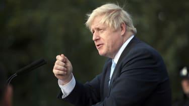 Boris Johnson speaks to police