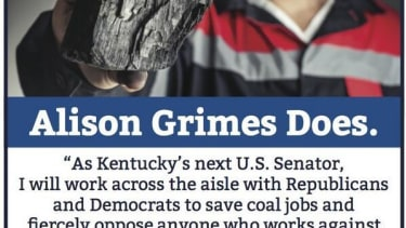 Democrat Alison Lundergan Grimes hits Obama on coal