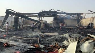 Saudi airstrike in Yemen.