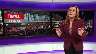 Sam Bee tackles Trump Muslim ban