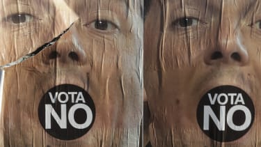 Anti-referendum posters in Rome.